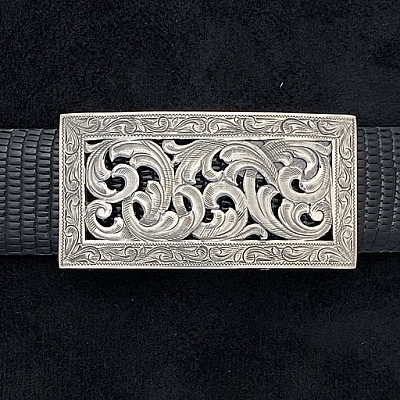 MONTEGUE 1816 FILIGREE TROPHY BUCKLE  WITH TOP & BOTTOM SHELF