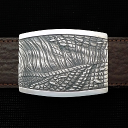 STERLING DINO SKIN TROPHY BUCKLE