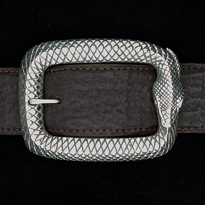 STERLING SILVER OUROBOROS SNAKE BUCKLE