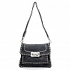 CROSSBODY FLAP FRONT LEATHER CROSSBODY WITH STUDS IN AVION