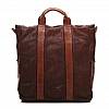 HEX LEATHER SHOPPER TOTE  IN COGNAC