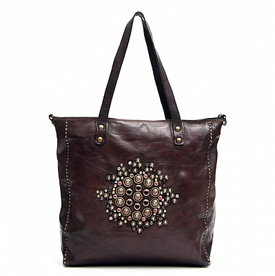 JEWEL STUDDED SHOPPER TOTE IN GREY