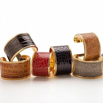 BIG CAIMAN CROCODILE CUFF
