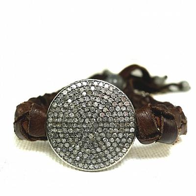 DIAMOND DISC DREAMCATCHER BRACELET