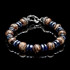 ENLIGHTENMENT TIBETAN AGATE & SODALITE BEAD BRACELET