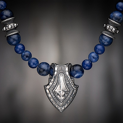 SODALITE SHIELD NECKLACE