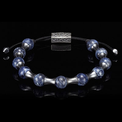 ZENITH SODALITE AND STERLING ADJUSTABLE BRACELET