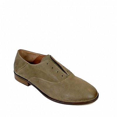 KATE LYCHEN LACELESS MILITARE LEATHER DERBY