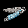 SPEARPOINT JEROME WHITE MATRIX TURQUOISE SKULL KNIFE