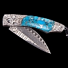 SPEARPOINT SOAR TURQUOISE AND SILVER EAGLE KNIFE