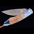 SPEARPOINT SYCAMORE MOKUTI DAMASCUS STEEL KNIVE