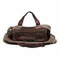 MILITARY STYLE CANVAS DUFFLE WITH LEATHER HANDLE