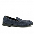 ANTHRACITE SOFT SUEDE WOVEN LOAFER