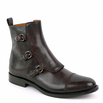 ETIENNE TRIPLE MONK BOOT IN EBANO