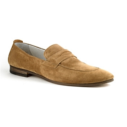 FAUSTO MODERN LOAFER IN KID SUEDE