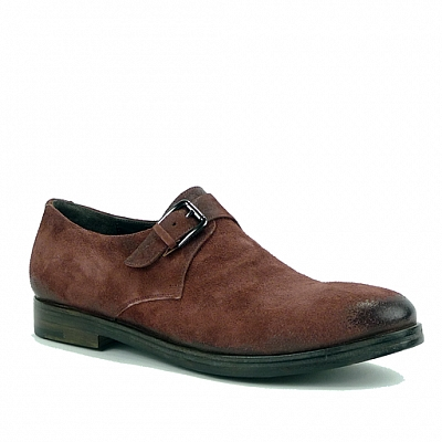 MAROON SUEDE  SINGLE MONK