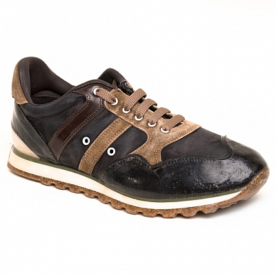 MENS RUBBER SOLE SNEAKERS IN GREY, BROWN, AND TAN