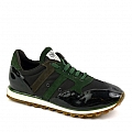 MENS SUEDE RUBBER SOLE SNEAKERS IN BLACK, GREEN AND BROWN
