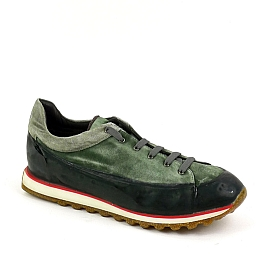MENS SUEDE RUBBER SOLE SNEAKERS IN GREEN