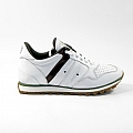 WOMEN'S RUBBER SOLE WHITE SUEDE SNEAKERS