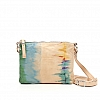 SMALL TIE DYE CROSSBODY POUCHETTE IN GREEN