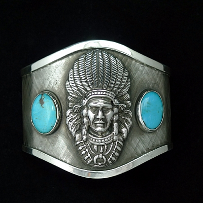 UTE CHIEF CUFF WITH TURQUOISE